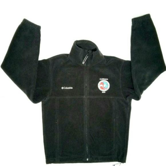 Columbia S Black Full Zip Fleece Sweater Cardigan